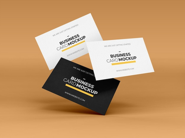 Isometric business card mockup template