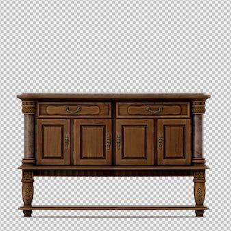 Isometric cabinet 3d render
