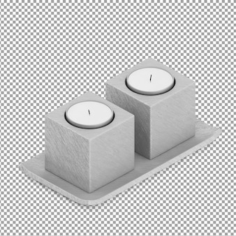 Isometric candles