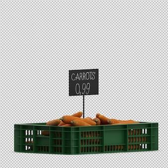 Изометрические морковь 3d визуализации