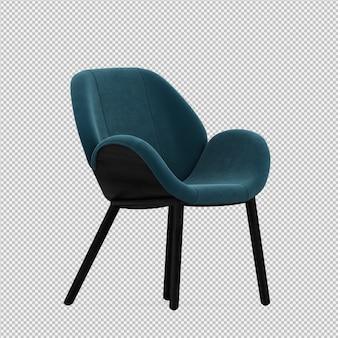 Изометрические стул 3d изолированных визуализации