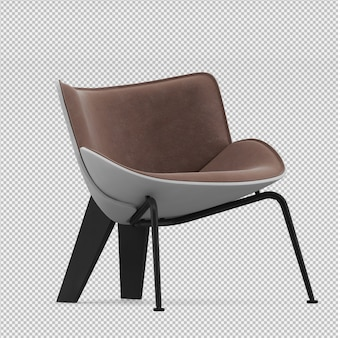 Isometric chair 3d isolated render