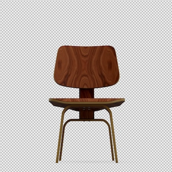 Isometric chair 3d render