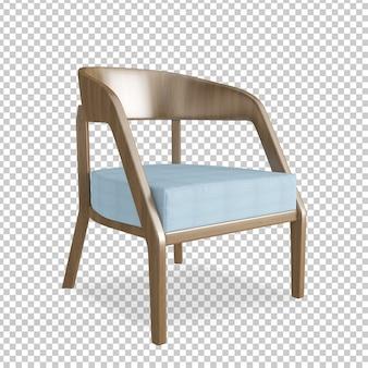 Изометрический стул в 3d-рендеринге
