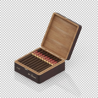Isometric cigar box