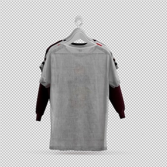 Isometric cloth 3d isolated render