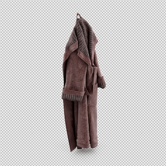 Isometric clothing as 3d isolated render