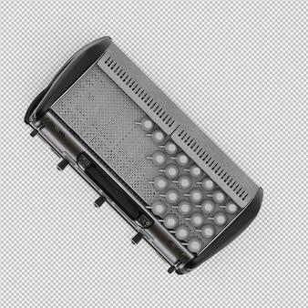 Isometric coffee machine 3d isolated render