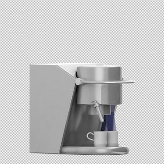 Isometric coffee machine 3d render