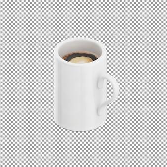 Isometric coffee mug