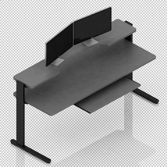 Isometric computer on a desk