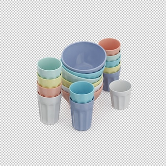 Isometric cup set