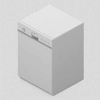 아이소 메트릭 식기 세척기 3d 렌더링
