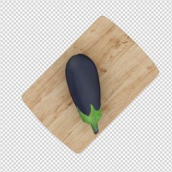Isometric eggplant