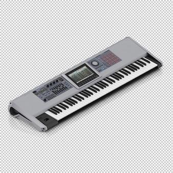 Isometric electronic piano