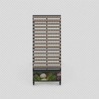 Изометрические пустой стенд рынка 3d визуализации