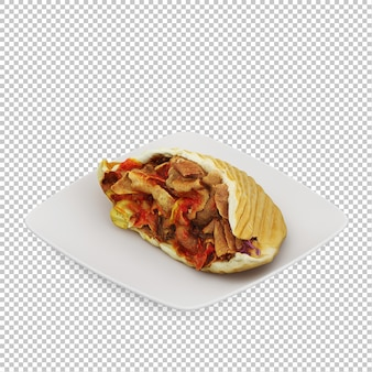 Isometric fast food isometric fast food
