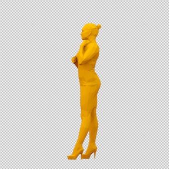 Изометрические женщины 3D визуализации