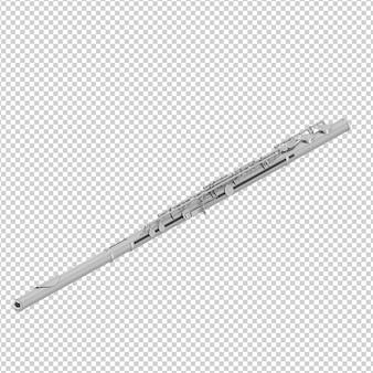 Isometric flute