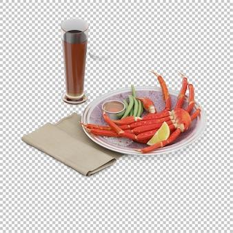 접시에 아이소 메트릭 음식
