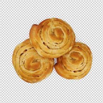 Isometric food on plate