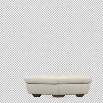 아이소 메트릭 발 의자 의자 3d 렌더링