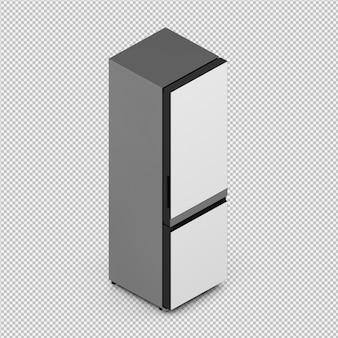 Isometric fridge 3d isolated render