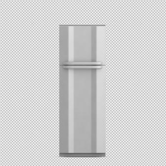 아이소 메트릭 냉장고 3d 렌더링