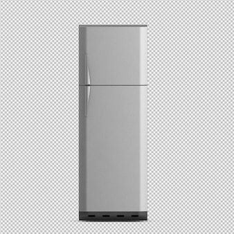Isometric fridge 3d render