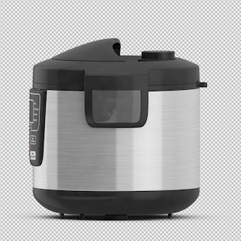 Isometric fryer 3d isolated render