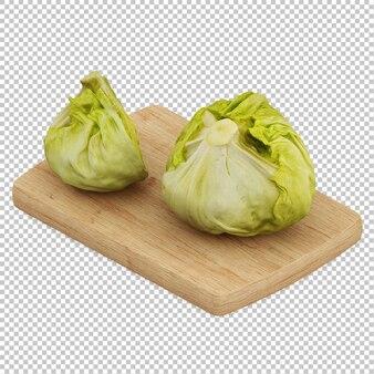 Изометрическая зеленая капуста
