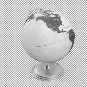Изометрический серый глобус