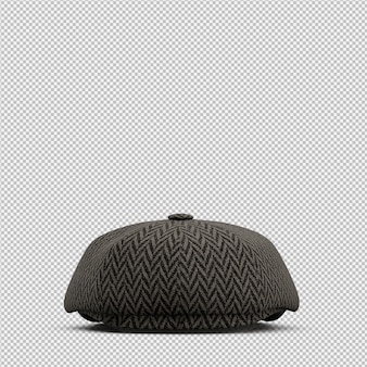 Isometric hat 3d isolated render