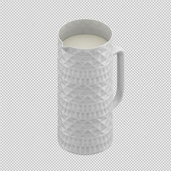 Изометрический кувшин 3d render