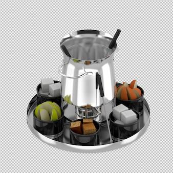 Isometric jug 3d render