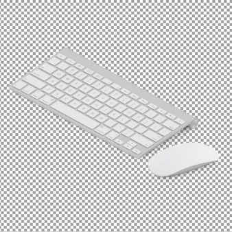 Isometric keyboard and mouse