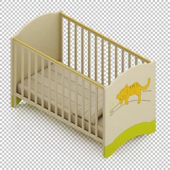 Изометрическая детская кроватка