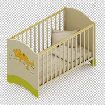 Изометрическая детская кровать