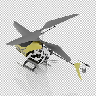 Isometric kid helicopter