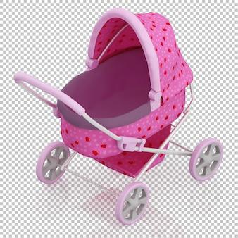 Изометрическая детская коляска