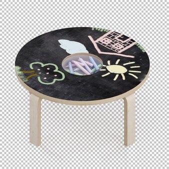 アイソメ子供テーブル
