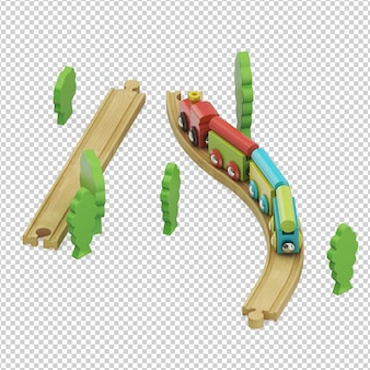 Isometric kid train toy