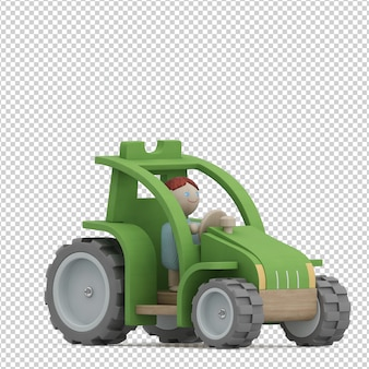 Isometric kid vehicle toy