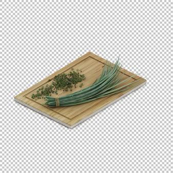 Isometric kitchen herbs