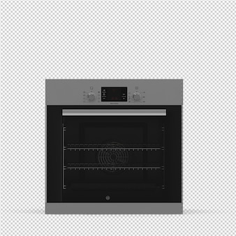 Isometric kitchen range 3d render