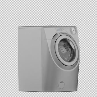 아이소 메트릭 세탁 기계 3d 렌더링