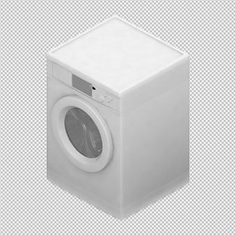 Isometric laundry machine 3d render