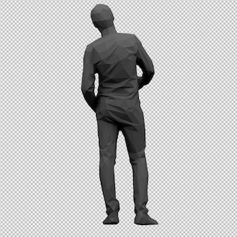 Isometric male 3d render