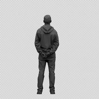 等尺性男性3 dレンダリング