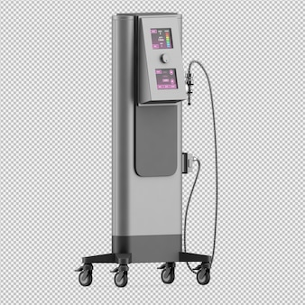 Isometric medical equipment 3d render